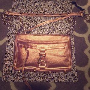Rebecca Minkoff mini MAC convertible bag rose gold